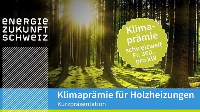 Gut und günstig heizen mit Holz - nutzen Sie EZS Klimaförderrechner